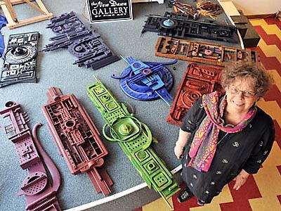 Sandra Schow in her studio